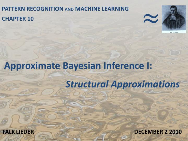 approximate bayesian inference i n.