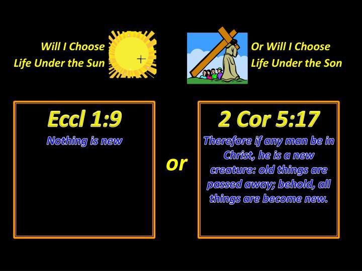 Will I Choose