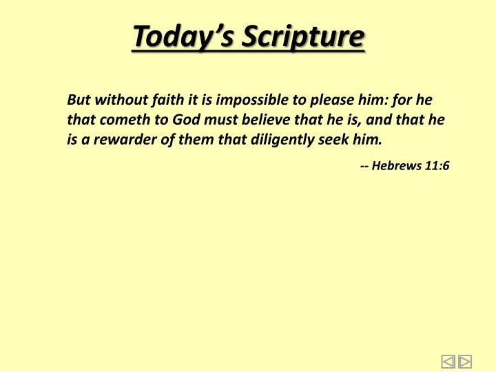Today s scripture