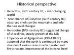 historical perspective