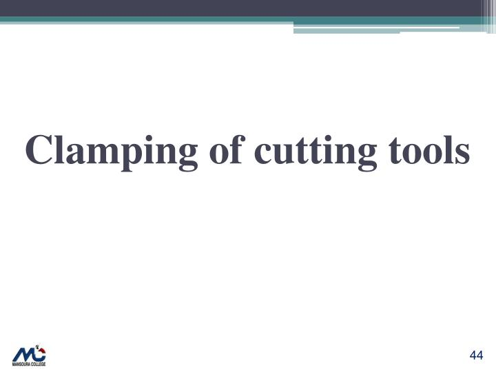 Clamping of