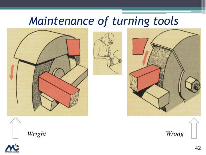 Maintenance of