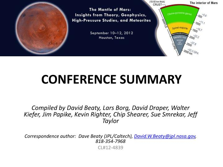 conference summary n.