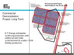 commercial demonstration project long term
