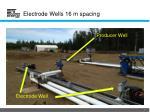 electrode wells 16 m spacing