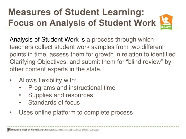 Measures of Student Learning: