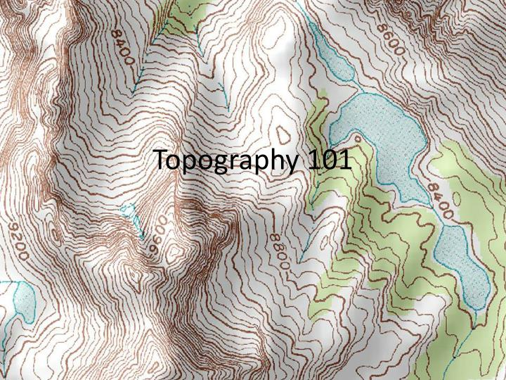 topography 101 n.