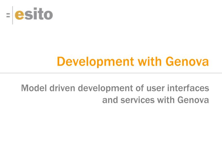 development with genova n.