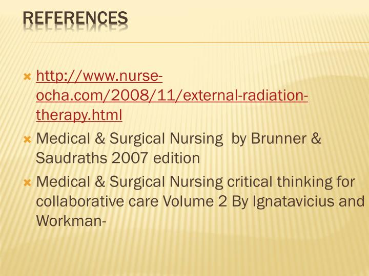 medical surgical nursing critical thinking for collaborative care