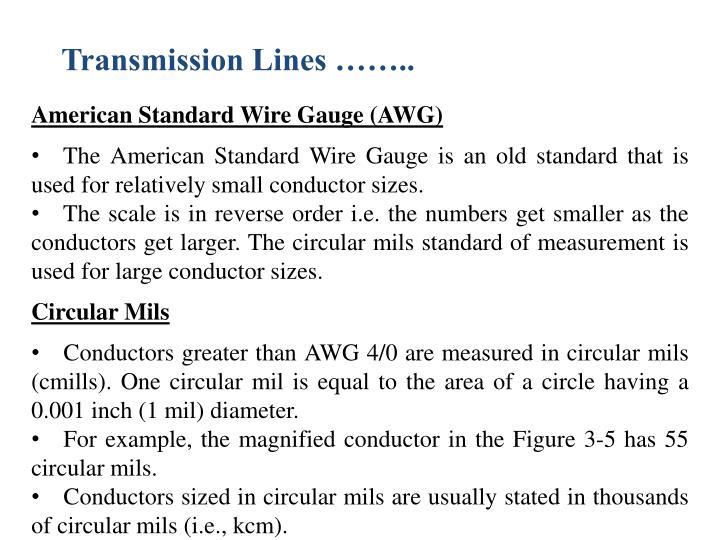 Ppt transmission lines powerpoint presentation id2024194 transmission lines american standard wire gauge keyboard keysfo Choice Image