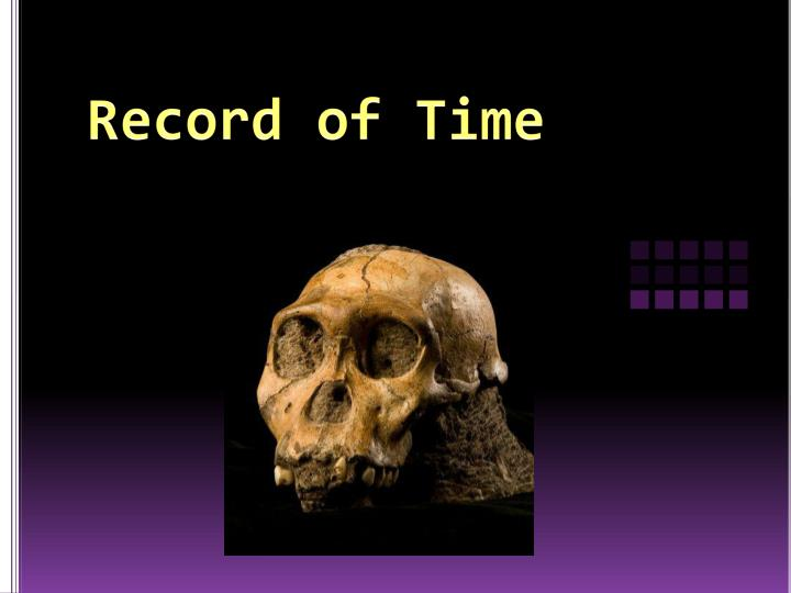 record of time n.