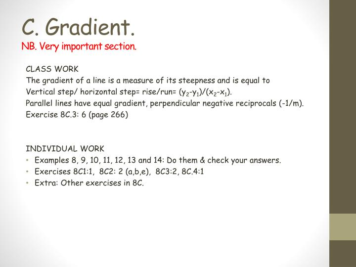 PPT - Chapter 8: C oordinate Geometry N.B. This chapter is ...