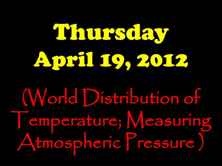 thursday april 19 2012 n.