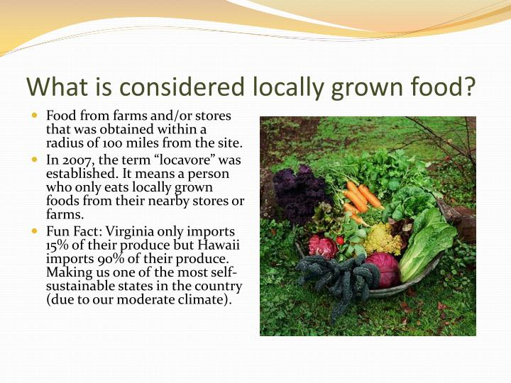 the controversial debate about locally grown food and commercially grown food A study released this week in the annals of internal medicine tried to get to the core of this food-fueled debate, but it ultimately may do little to end the controversy while the study finds that organics do have some safety advantages over conventional foods, nutritionally speaking they have little extra to offer.