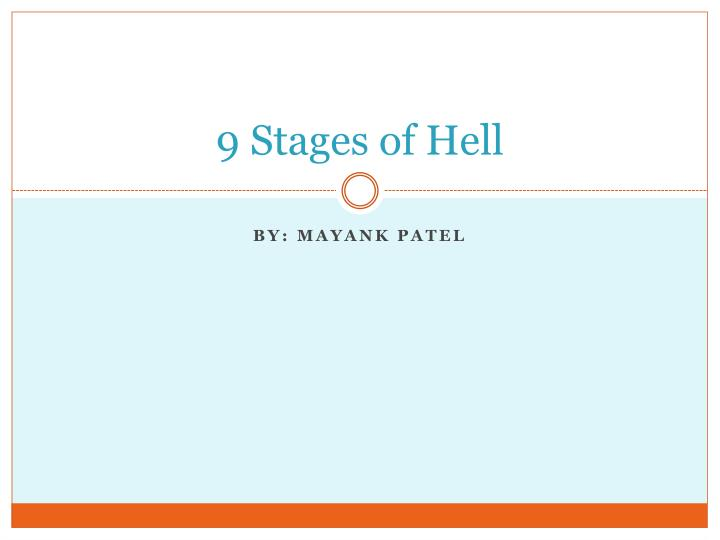 9 stages of hell n.