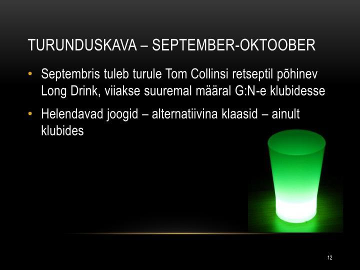 Turunduskava – september-oktoober