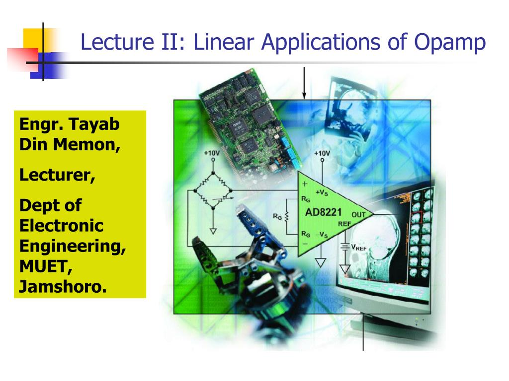 Ppt Lecture Ii Linear Applications Of Opamp Powerpoint Summing Amplifier Inverting Adder Circuit Using Op Amp 741 Pictures N