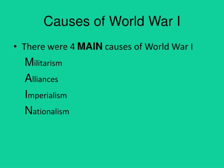 the root causes of world war i Long-term, short-term and immediate causes campaigns, war at sea, effects on civilian population factors leading to the defeat of the central powers social and economic changes during and after the war the paris peace settlements and their political and economic effects on europe from the wikipedia.