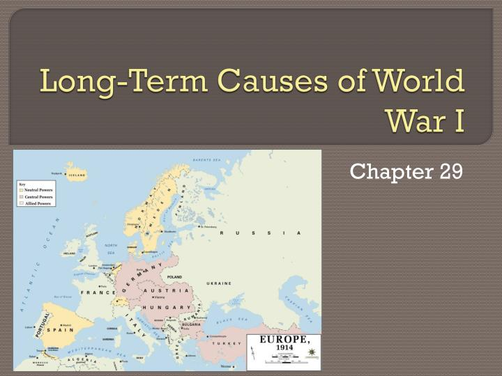 long term causes of world war i n.