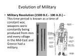 evolution of military1