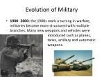 evolution of military6