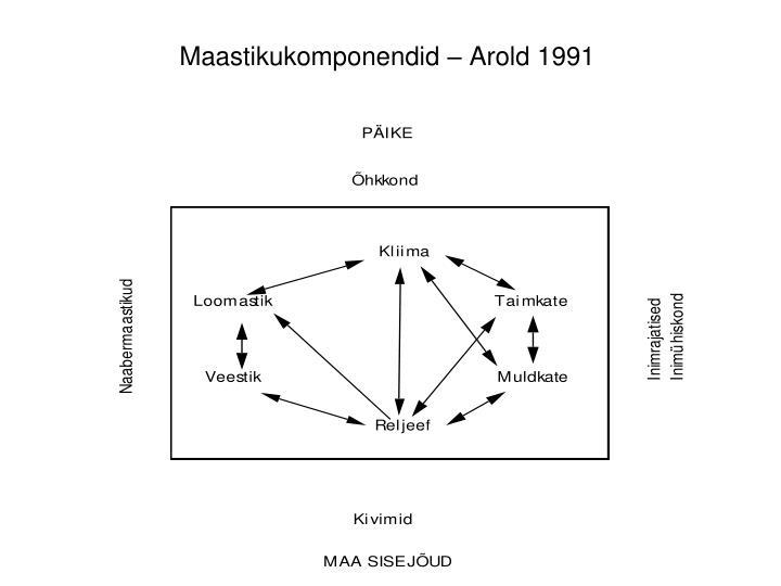 Maastikukomponendid – Arold 1991