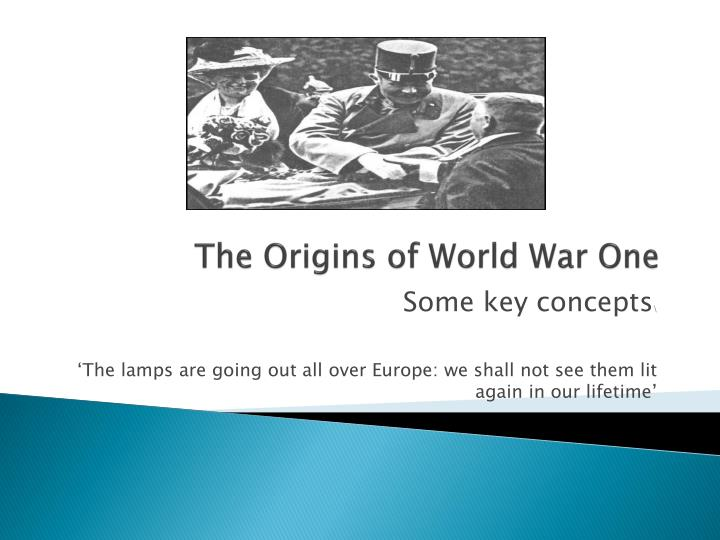 the origins of the first world war History of the first world war including war in the west, war in the east, the search for support, neutral nations, the war at sea, war in the air, japan seizes a chance, german africa.