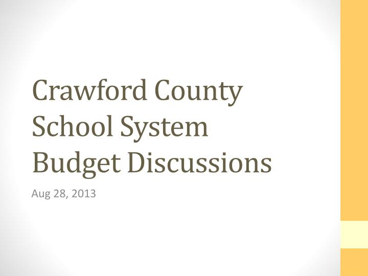 crawford county school system budget discussions n.