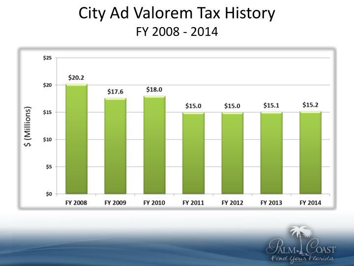 City Ad Valorem Tax History