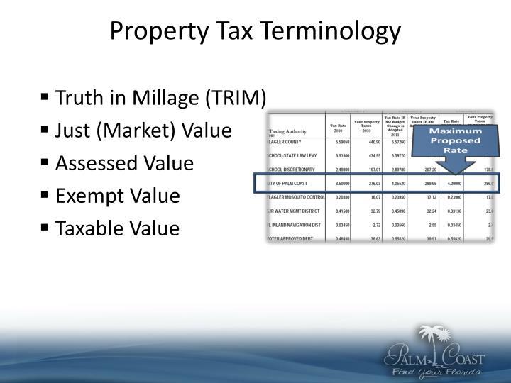 Property Tax Terminology