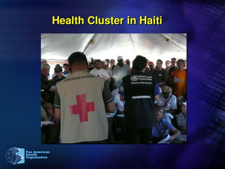 Health Cluster in Haiti