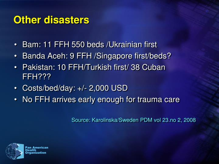 Other disasters