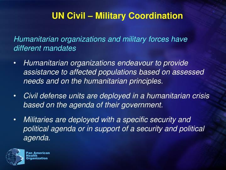 UN Civil – Military Coordination