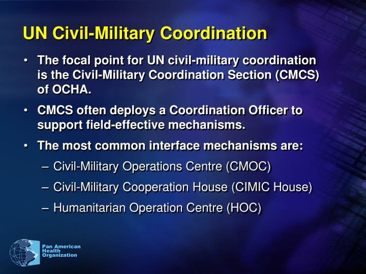 Un civil military coordination