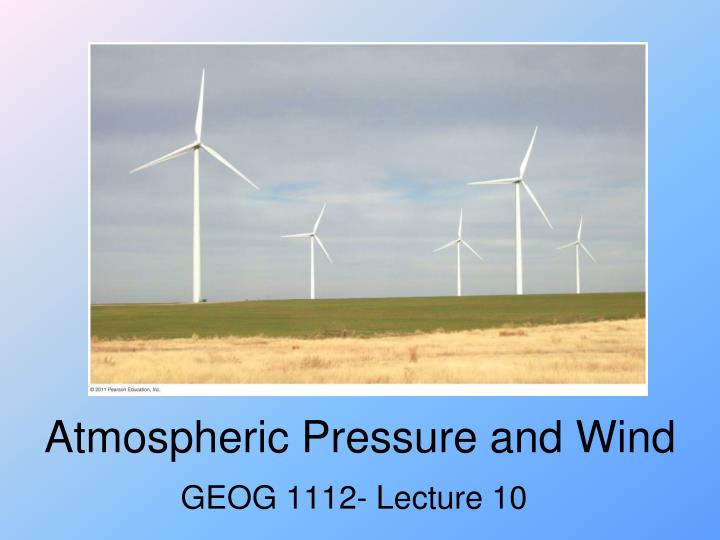 atmospheric pressure and wind n.