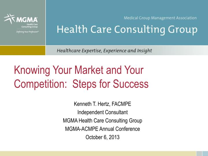 knowing your market and your competition steps for success n.