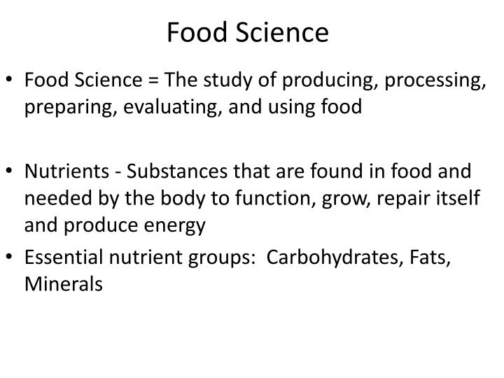 food science n.