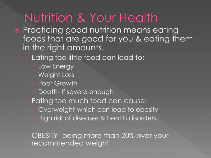 Nutrition your health1