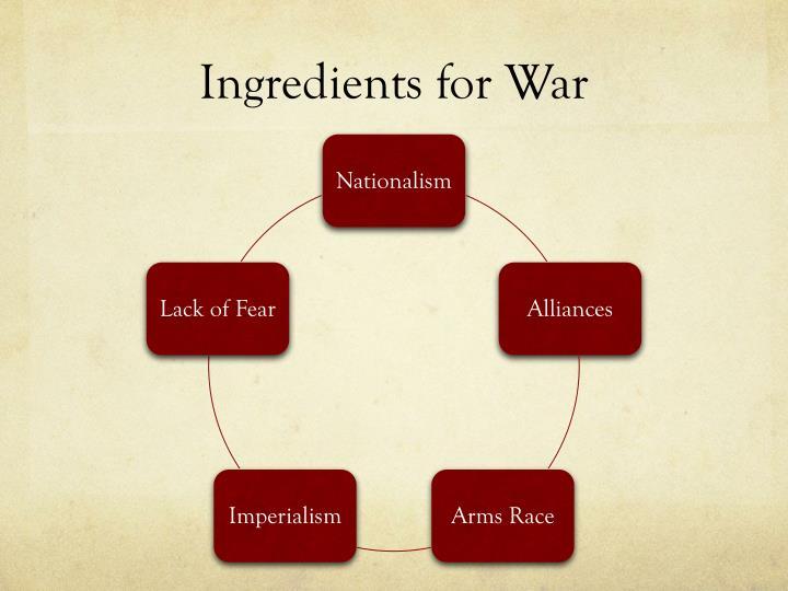 Ingredients for war