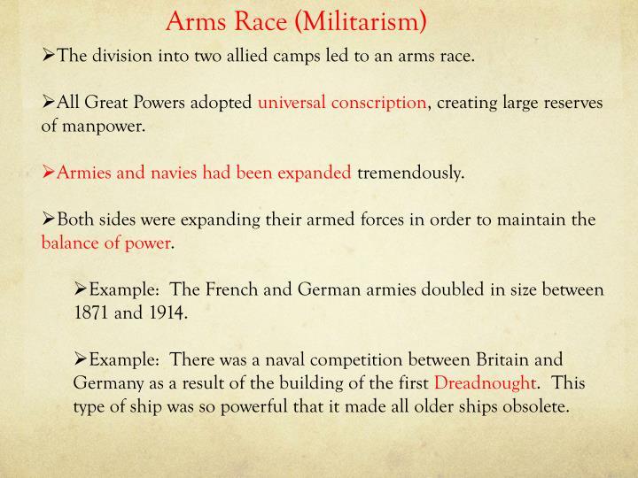 Arms Race (Militarism)