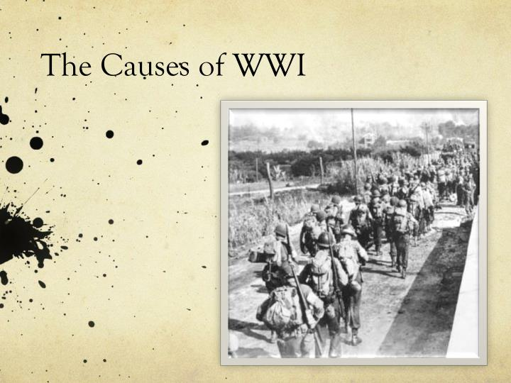 4 indirect causes of world war