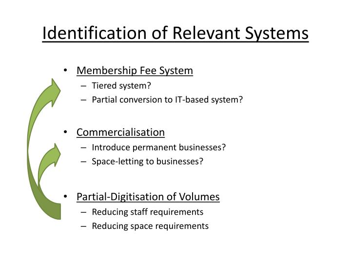 Identification of Relevant Systems