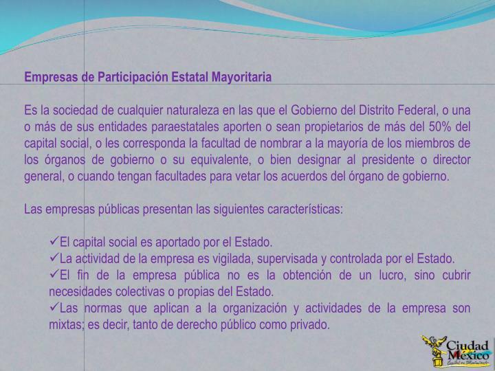 Empresas de Participación Estatal Mayoritaria