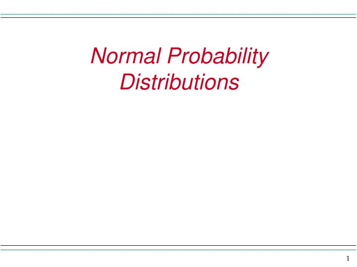 normal probability distributions n.