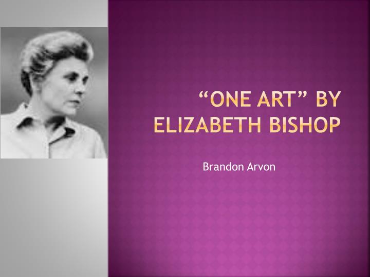 elizabeth bishop bibliography