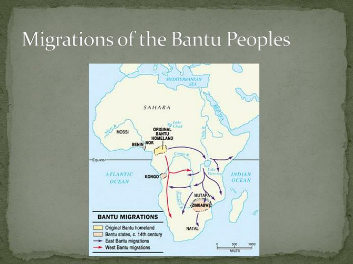 agriculture iron and the bantu peoples Bantu agriculture increased more rapidly than the hunting-and-gathering populations increased supplies of food and supported larger populations some scholars believed that merchants from north africa introduced iron metallurgy but others argues that the bantu people independently.