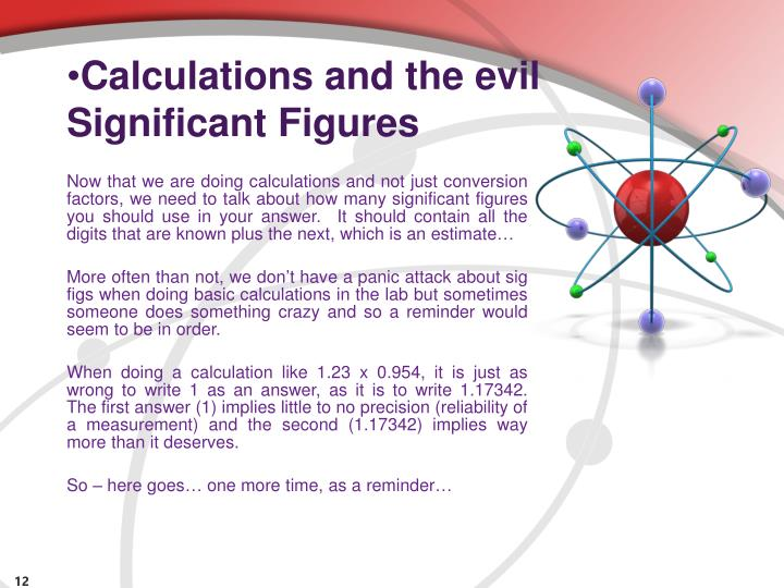 Calculations and the evil