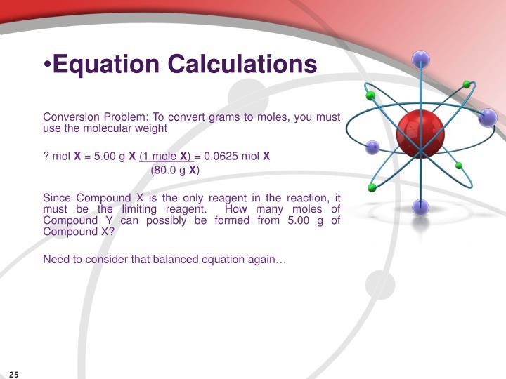 Equation Calculations