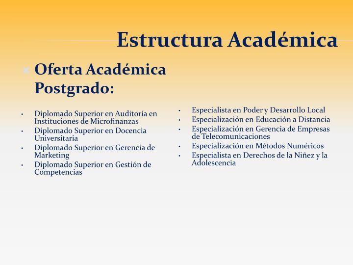 Oferta Académica Postgrado: