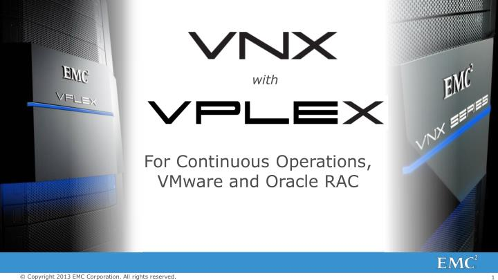 for continuous operations vmware and oracle rac n.